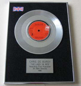 CHRIS DE BURGH - THE LADY IN RED PLATINUM Single Presentation DISC